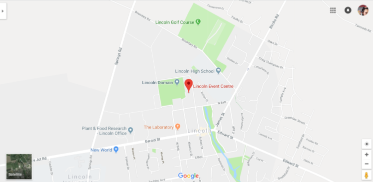 lincoln events centre map